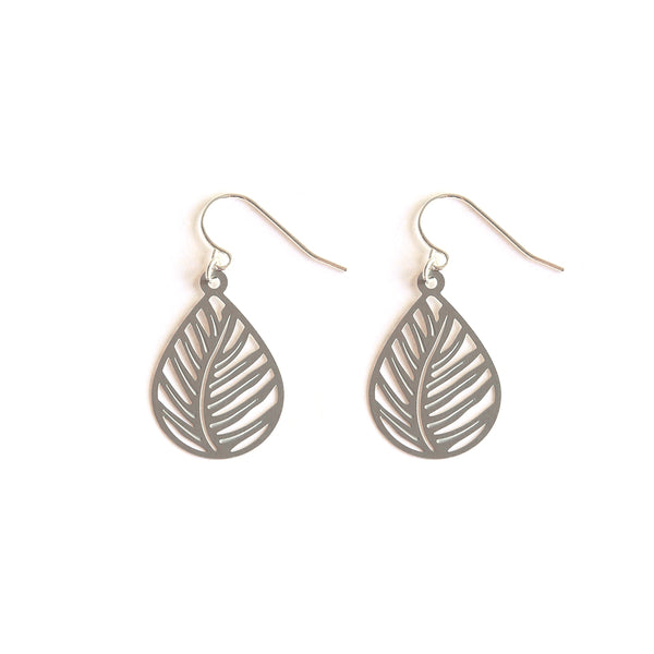 Stainless Steel Tree Fern Earrings
