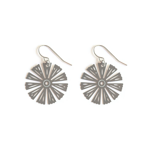 Stainless Steel Umbrella Palm Earrings