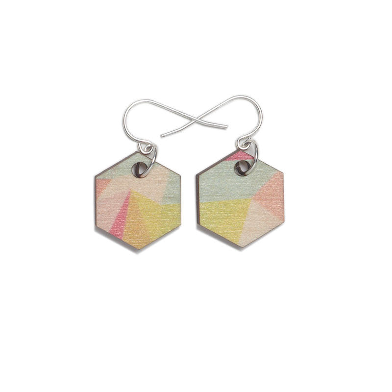 Fractal Small Earrings - Summer