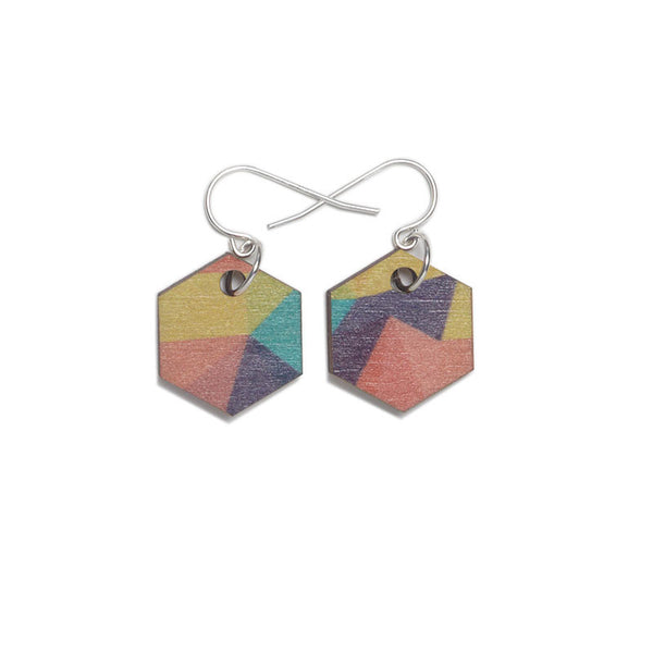 Fractal Small Earrings - Holiday