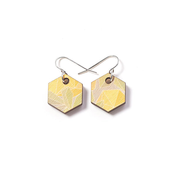 Fractal Small Earrings - Wattle