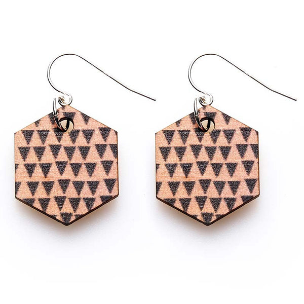 Copenhagen Earrings - Pink Triangles