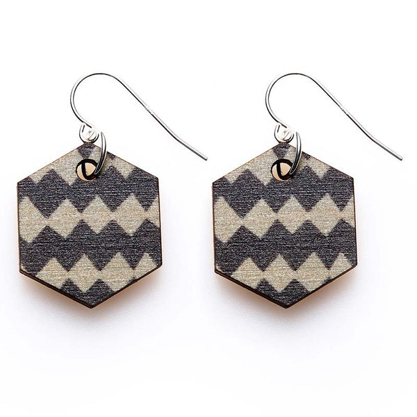 Copenhagen Earrings - Grey Harlequin