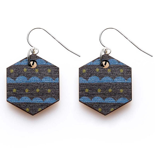 Copenhagen Earrings - Indigo Scallops