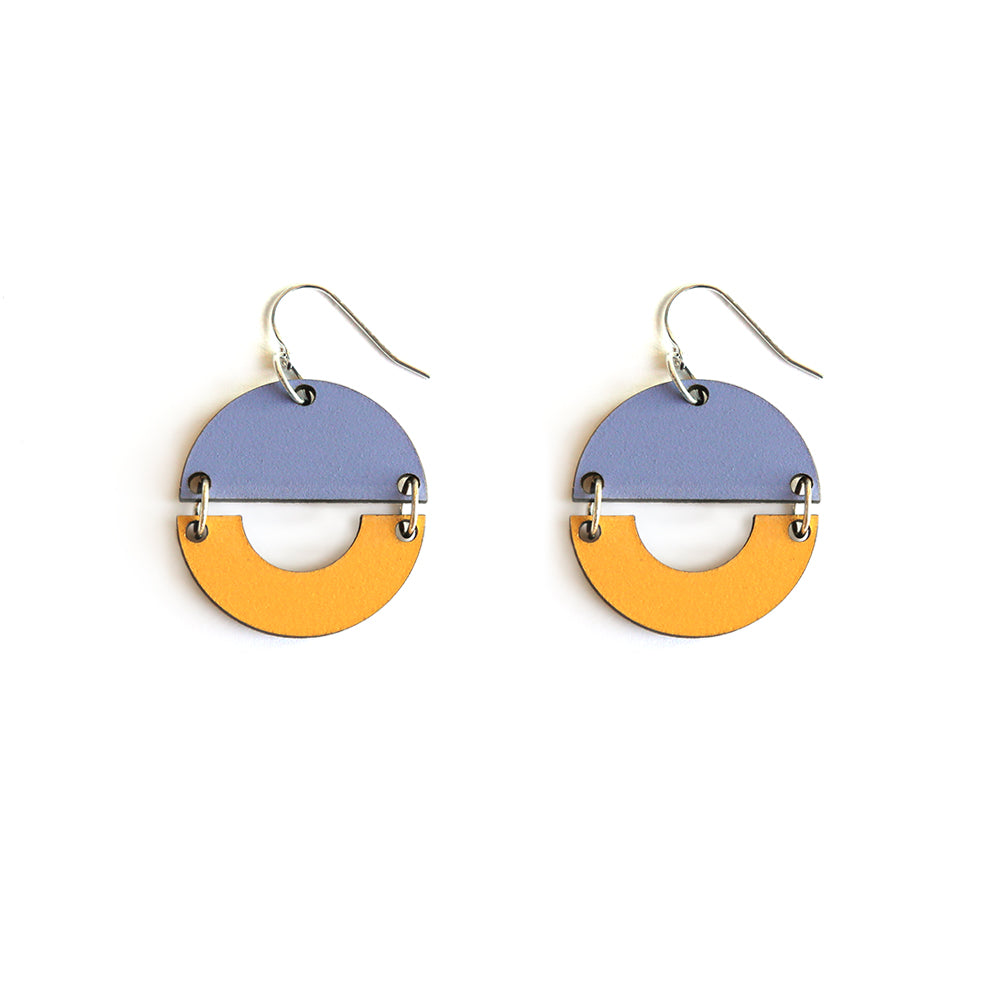 Sunrise Earrings - Dusty Mauve/Mustard