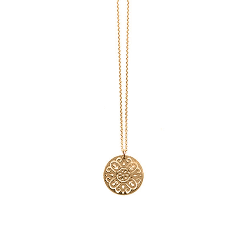 Gold Round Rosa Pendant - Limited Edition