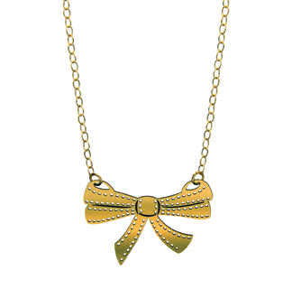 Brass Bow Necklace