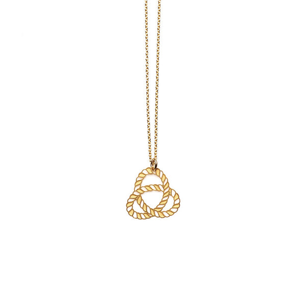 Gold Knot Small Pendant