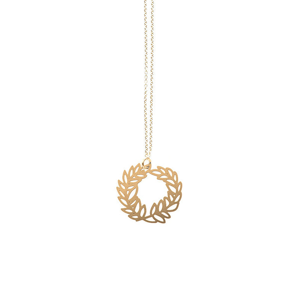 Gold  Laurel Pendant