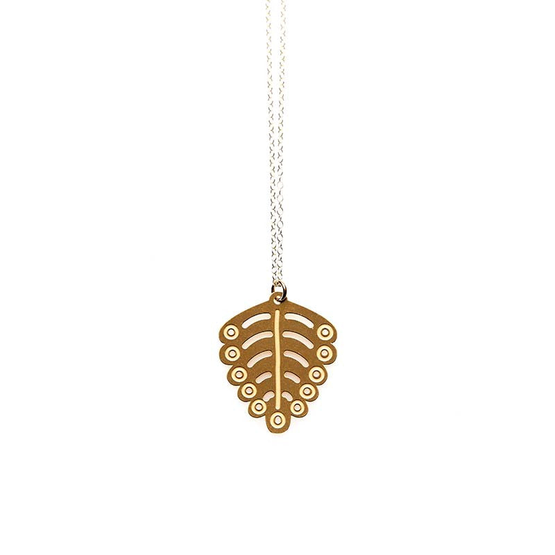Gold Fern Small Pendant