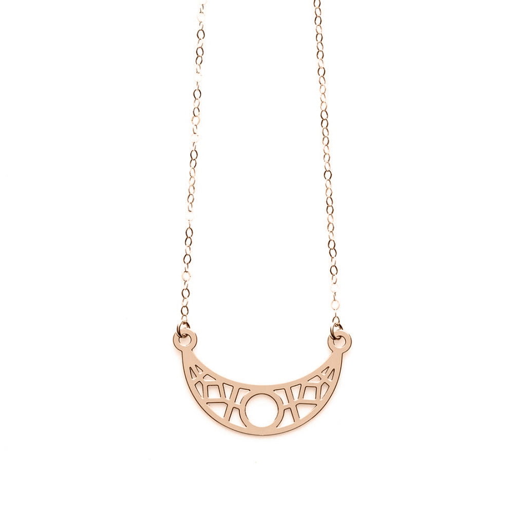 Rose Gold Crescent Necklace- Limited Edition