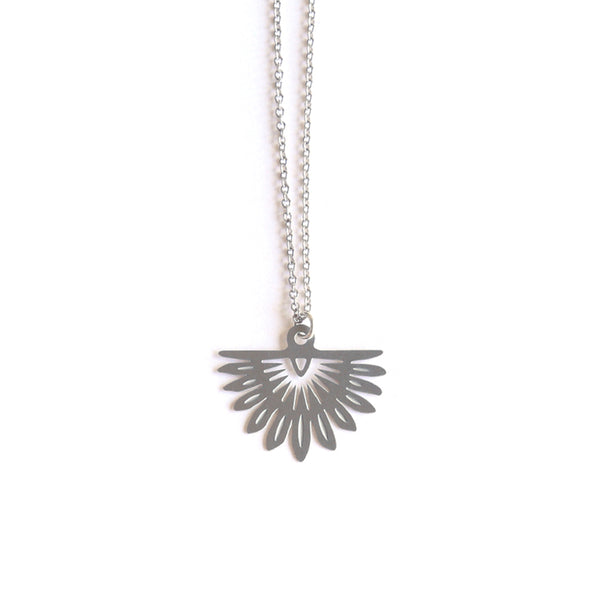 Stainless Steel Fan Palm Pendant