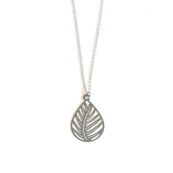 Stainless Steel Tree Fern Pendant