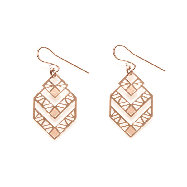 Rose Gold Zephyr Earrings- Limited Edition