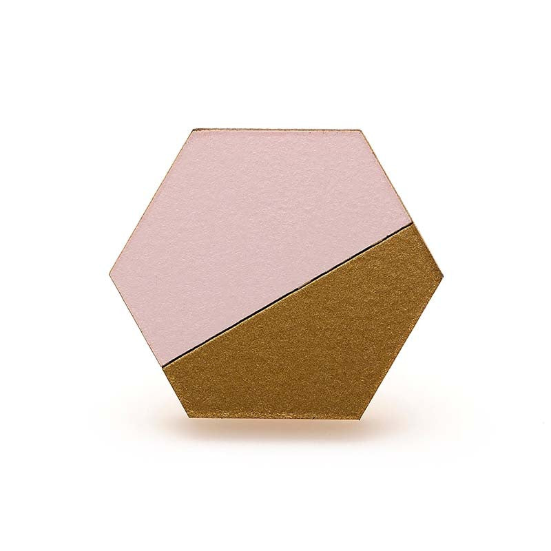 Hexagon Splice Ring - Blush/ Gold