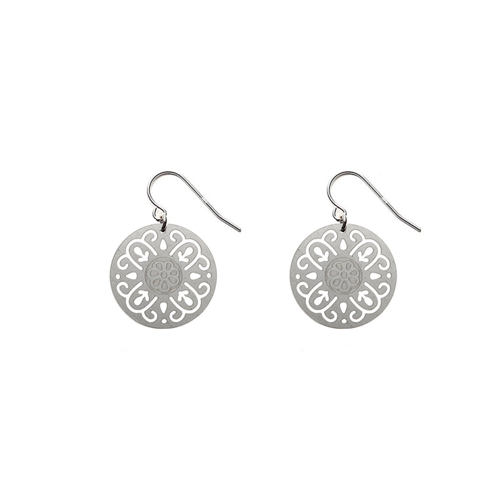 SS Round Rosa Earrings - Limited Edition