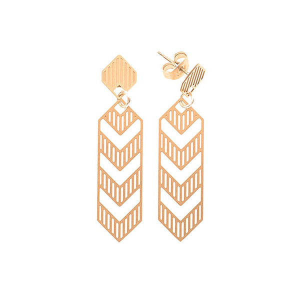 Gold Deco Medium Studs