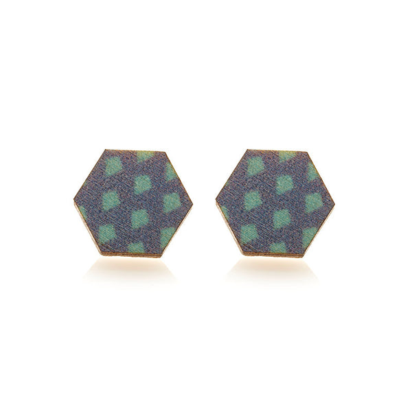 Verity Hex Studs