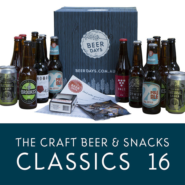 The Craft Beer and Snacks Classic 16 Beer Hamper