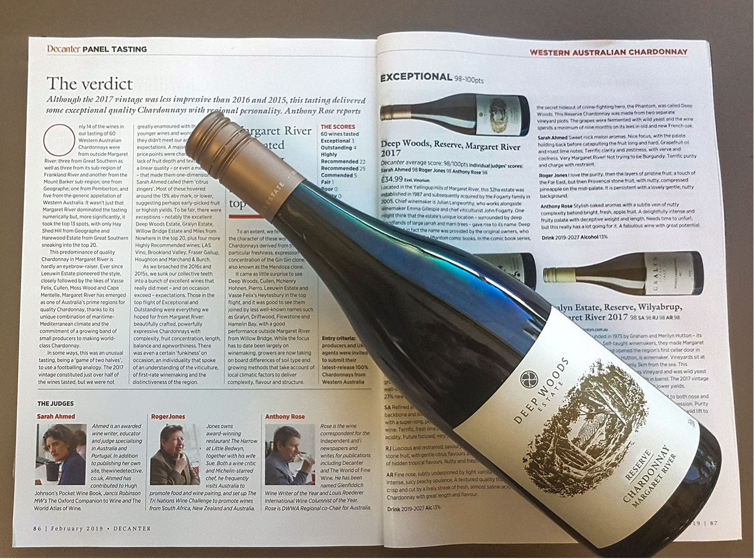 decanter magazine toasts an 'exceptional' chardonnay from deep woods