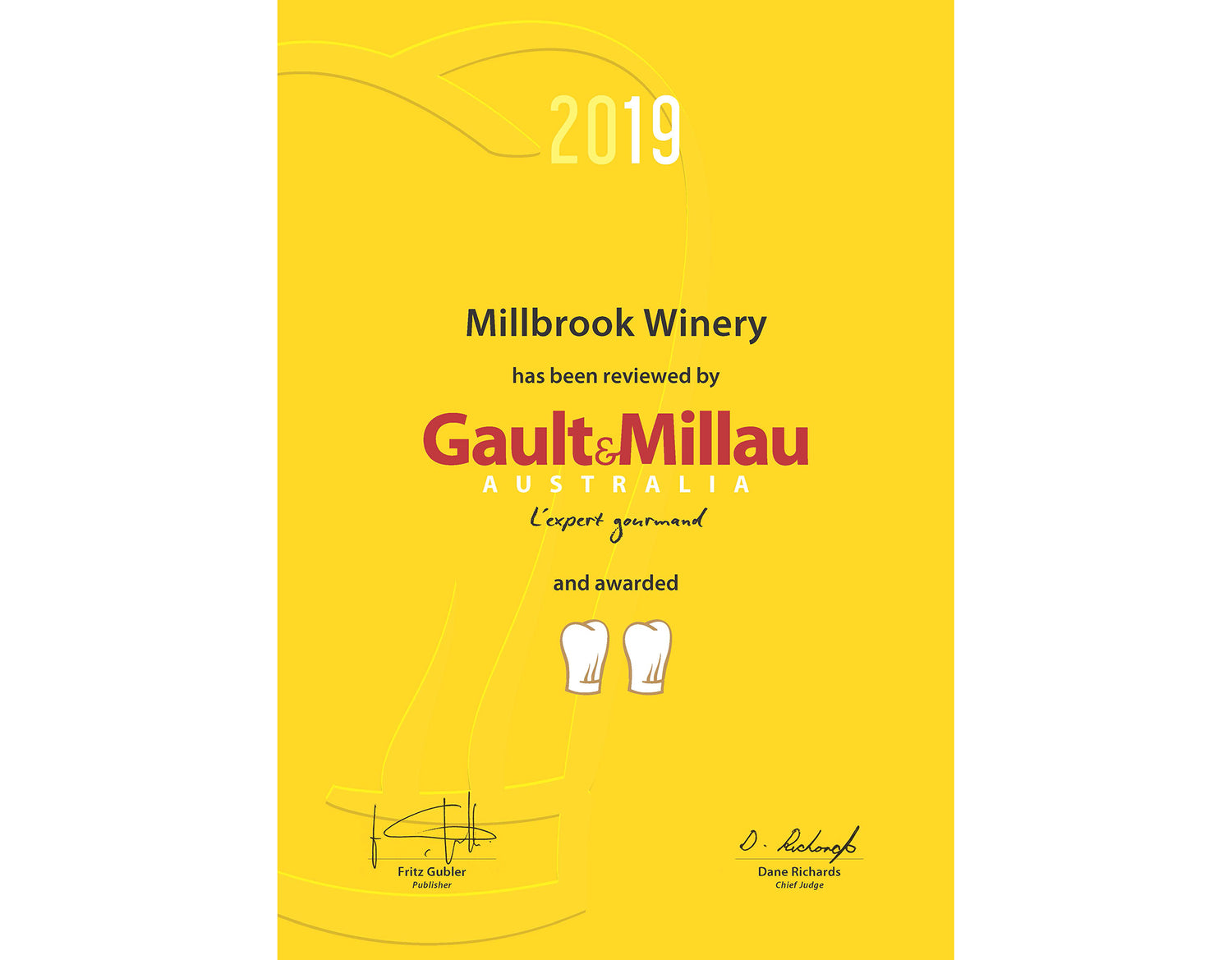 millbrook winery restaurant featured in latest gault & millau guide