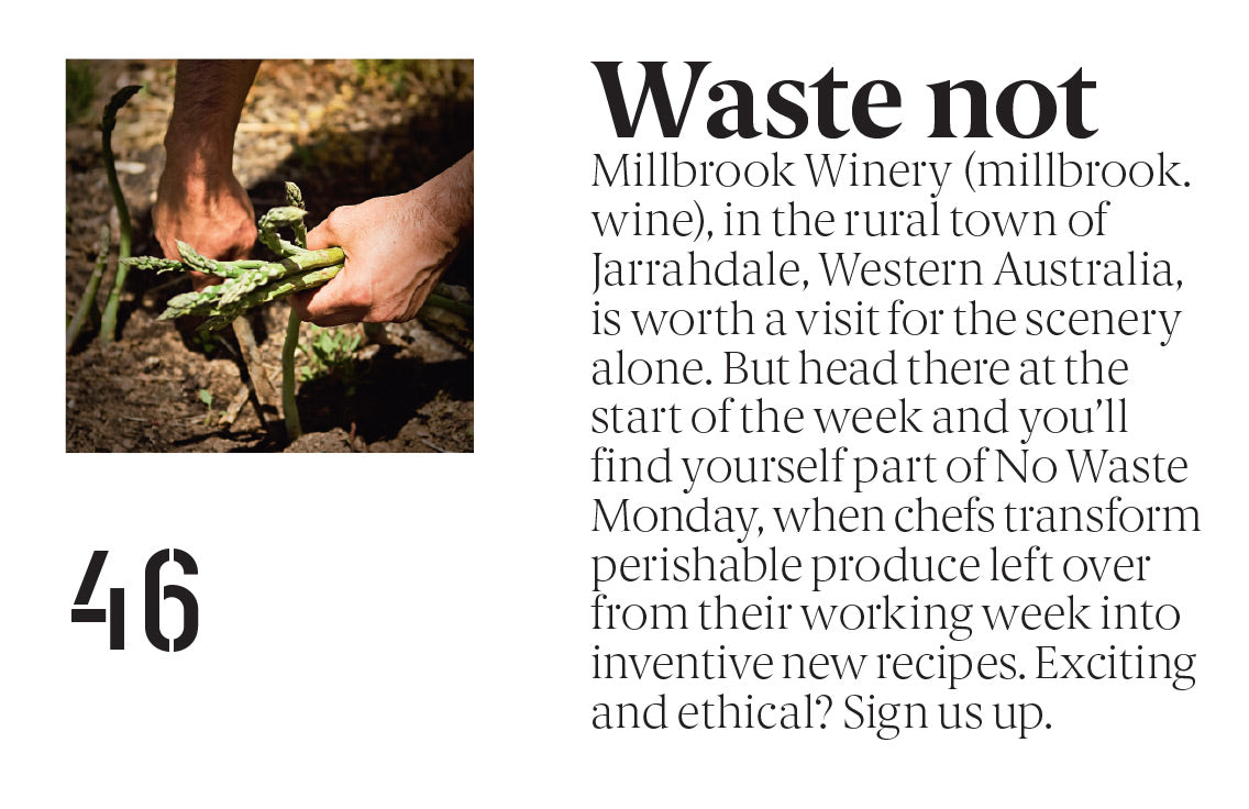 Millbrook's No Waste Monday features in Qantas Magazine