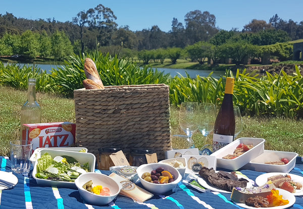 Picnic by the lake at Millbrook Winery