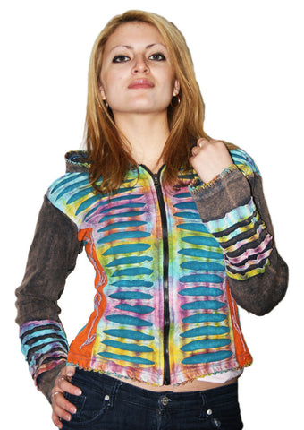 Zip Up Rainbow Claw Hoodie