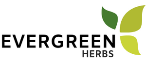 Evergreen Herbs logo: Wild crafted herbs from Mexico.