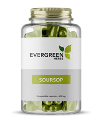 Soursop Leaf Capsules - 90 Capsules - 450 mg.