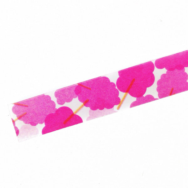 Pink Ginkgo Floral Washi Tape