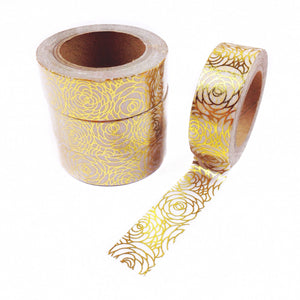 Floral Dreams Gold Foil Washi Tape - Unicorn Planner