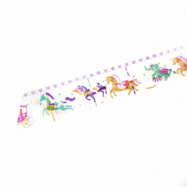 Carousel washi tape with horses and other animals