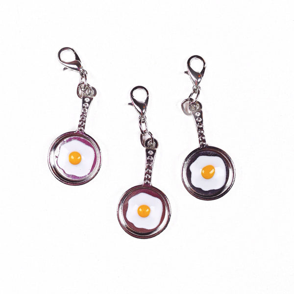 Fried egg in a frying pan charms perfect for travelers notebooks