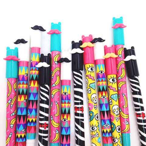 Mustache Gel Ink Pen - Unicorn Planner