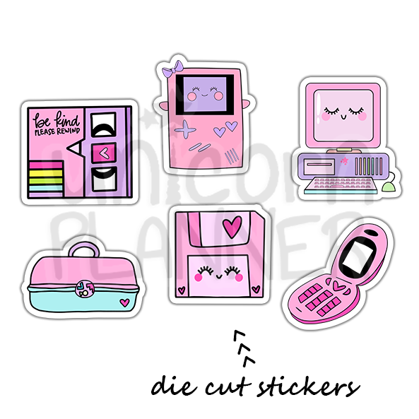 90's Die Cut Sticker Pack (STICKERS)