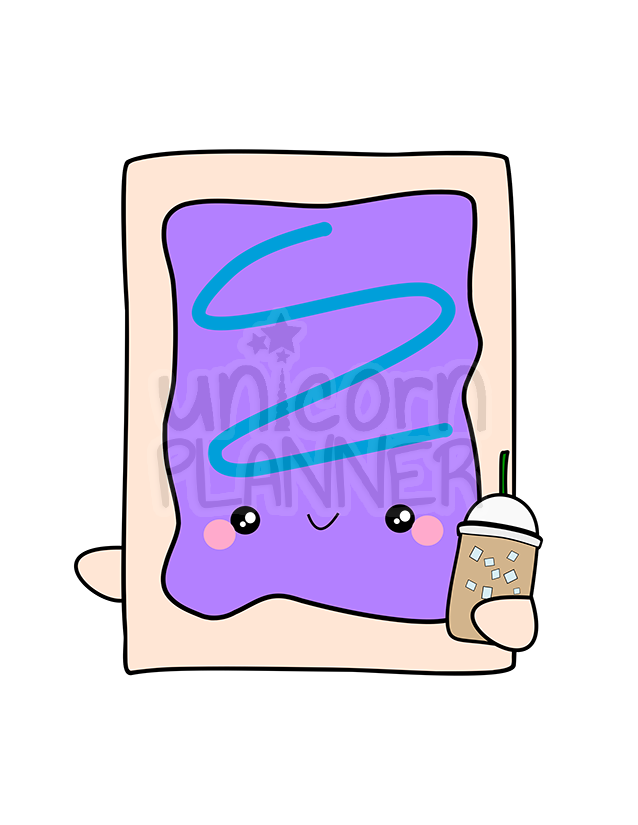 Berry Wilds Pop Tart with Iced Coffee Printable (DIGITAL DOWNLOAD)