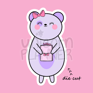 Bootsy Bear Holding Pink Travelers Notebook (DIE CUT)