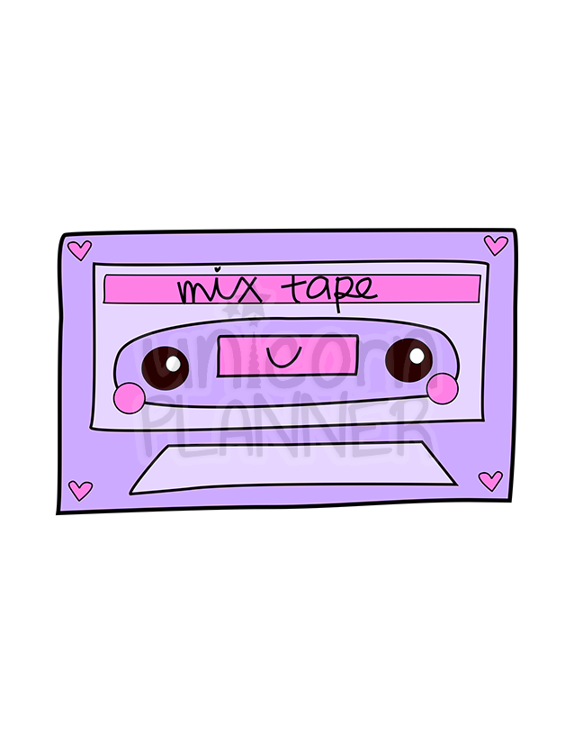 Mix Tape Printable (DIGITAL DOWNLOAD)