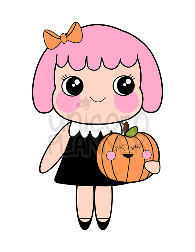 Chubby Cheeks - Cupcake with Pumpkin (DIGITAL DOWNLOAD)