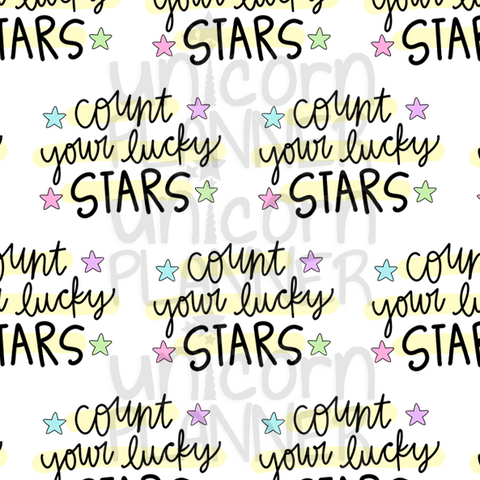 Count Your Lucky Stars Printable Paper (DIGITAL DOWNLOAD)