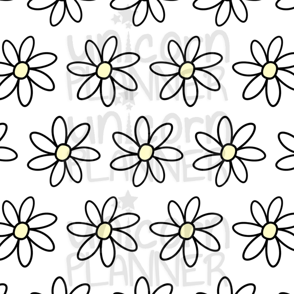 Daisy Yellow Printable Paper (DIGITAL DOWNLOAD)