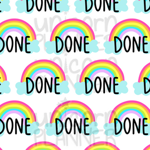 Done Printable Paper (DIGITAL DOWNLOAD)