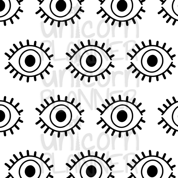 Evil Eye Printable Paper (DIGITAL DOWNLOAD)