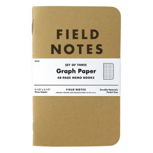 Field Notes Graph Paper 3-Pack