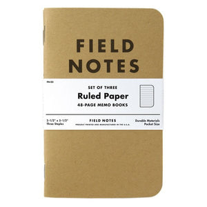 Field notes ruled paper 3-pack