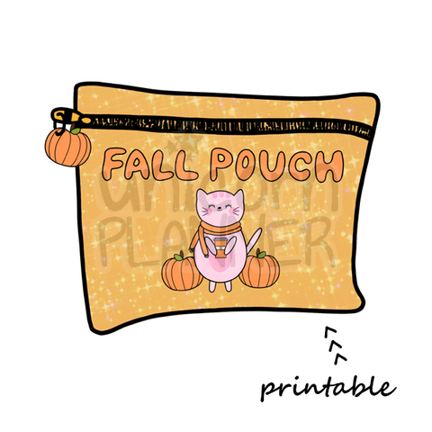 Planner Pouch - Fall Printable Die Cut (DIGITAL DOWNLOAD)