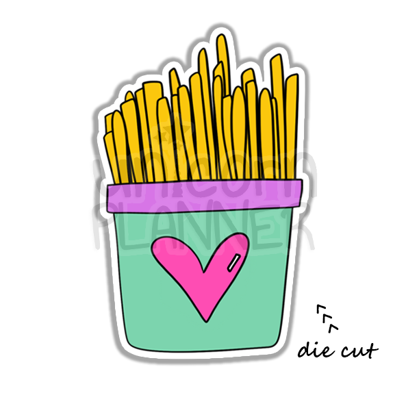 French Fry Love (DIE CUT)