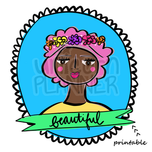 Girlie - Beautiful Printable (DIGITAL DOWNLOAD)