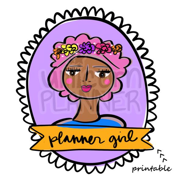 Girlie - Planner Girl Printable (DIGITAL DOWNLOAD)